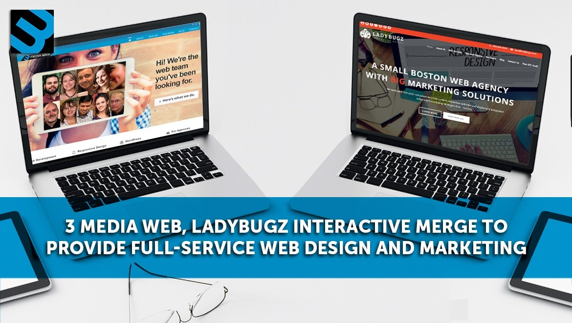 3 Media Web and Ladybugz Interactive become one web solutions company in Hudson MA