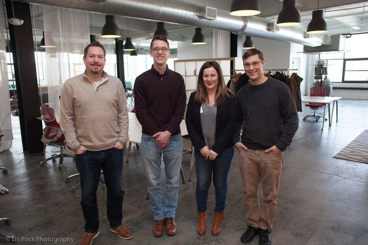 Left to Right: Dan Allard (Fresh Tilled Soil), Jon Langberg, Lysa Miller, Mike St. Jean (3 Media Web)