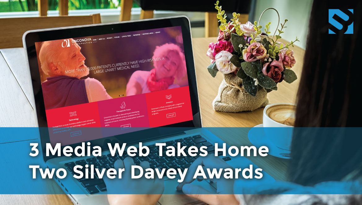 Boston Web Design Company, 3 Media Web, Takes Home Two 2017 Silver Davey Awards