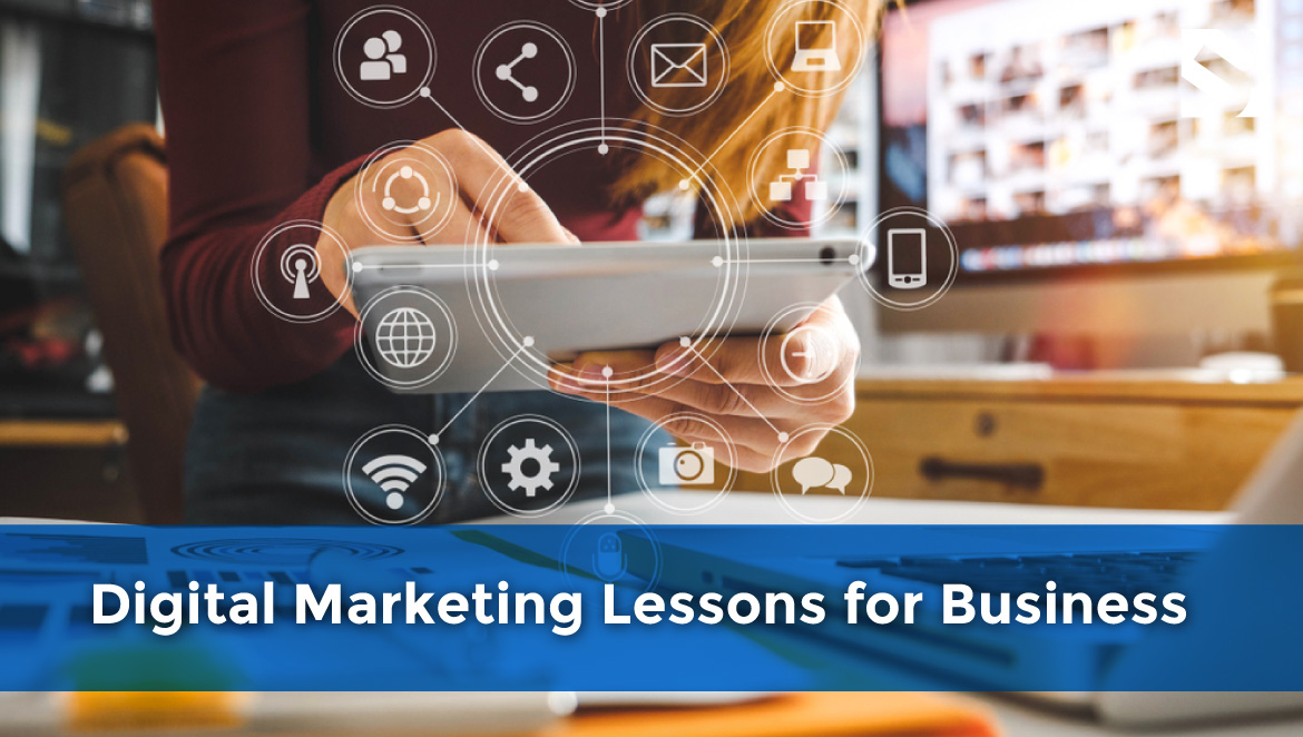 Man using ipad, article title Outsource It! 4 Digital Marketing Lessons for Business