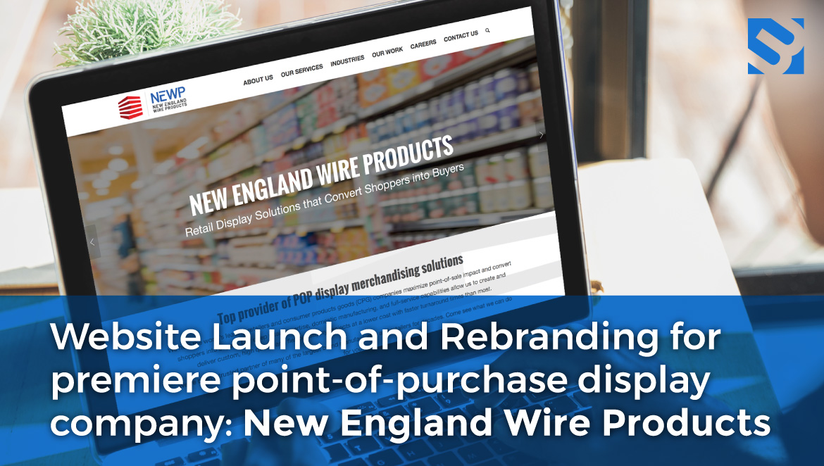 laptop showing new england wire products website