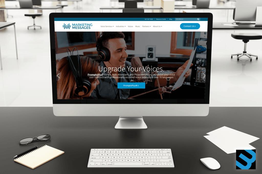 Marketing Messages B2B Website Design, Waltham MA.