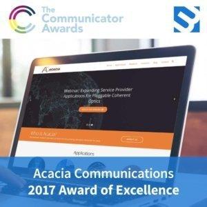 3MW award image for Acacia Communications