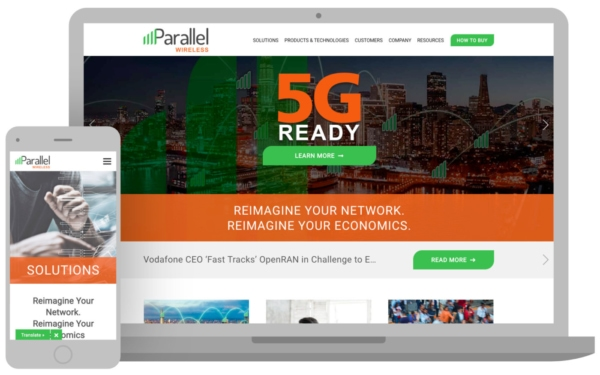 Parallel Wireless homepage image