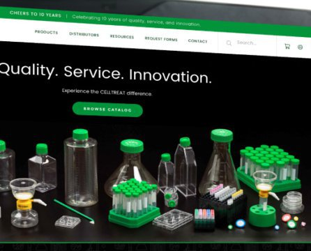 An E-Commerce Website with Personality CELLTREAT Scientific Products