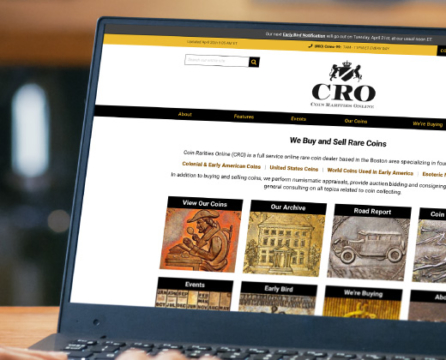 How 3 Media Web Helped Coin Rarities Online Modernize Their Website