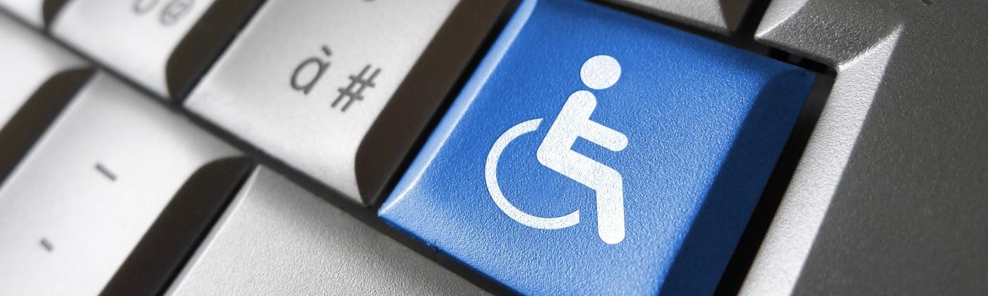 ADA compliance - wheelchair button an a keyboard