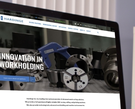 Website Launch for Leader in Advanced Metal-cutting Machine Tools: Hardinge, Inc.