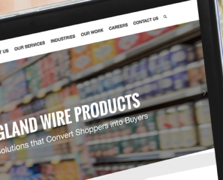 Website Launch and Rebranding for premiere point-of-purchase display company: New England Wire Products