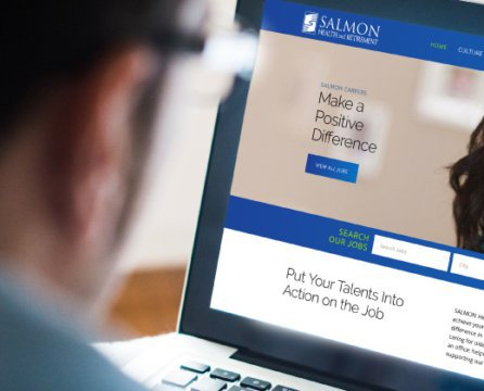 Recruitment Website for an Innovator in Senior Health Care: SALMON Health Care and Retirement