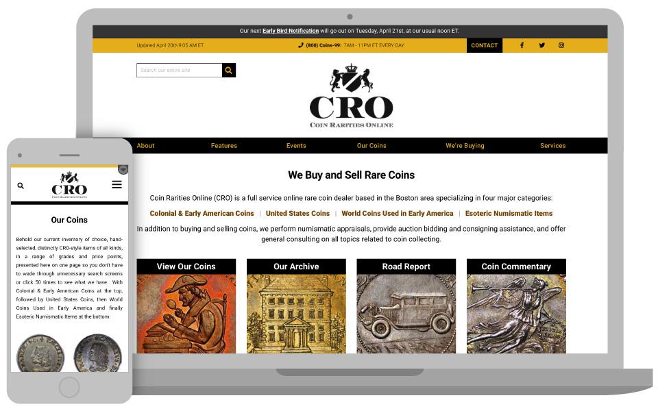 Coin Rarities Online