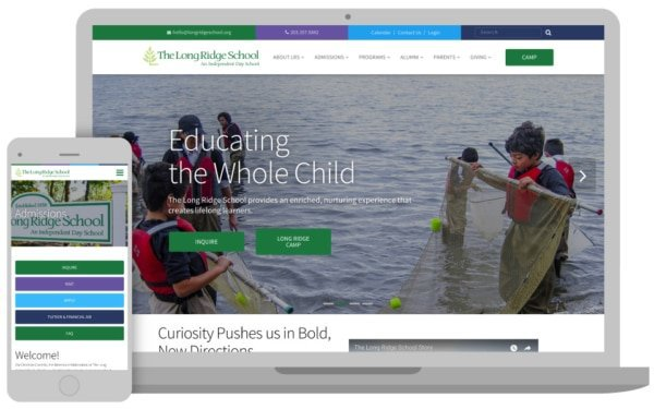 long ridge school project homepage