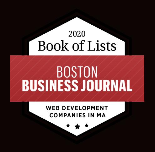 Boston Business Journal 2020 Book of Lists Winner, 3 Media Web