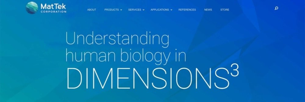 Biotech Web Design Example: MatTek.