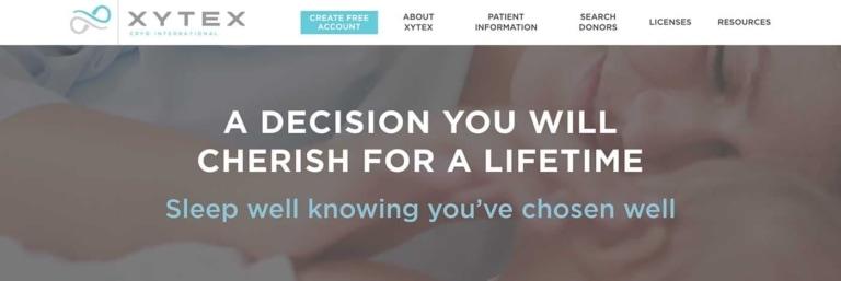 Biotech Web Design Example: Xytex.