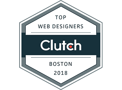 Clutch: Top Web Designers Boston 2018 Award