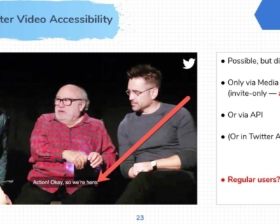 Twitter Video Accessibility Example.