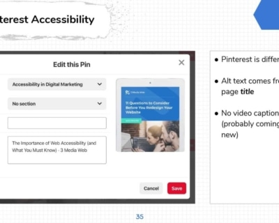 Pinterest Image Accessibility.