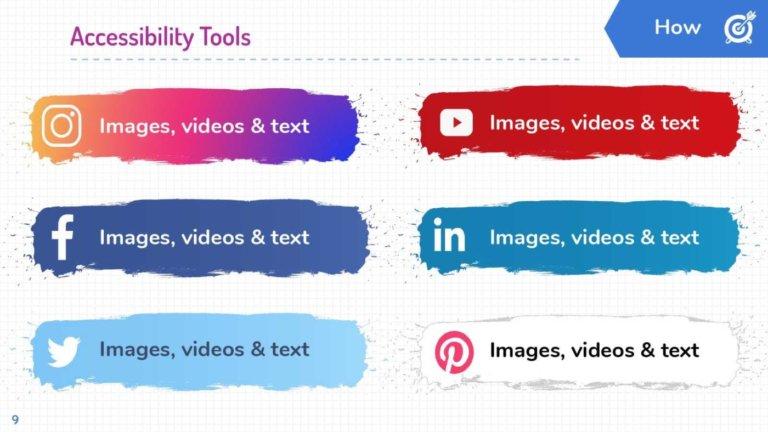 Digital Marketing Accessibility A11y: Social Networks.