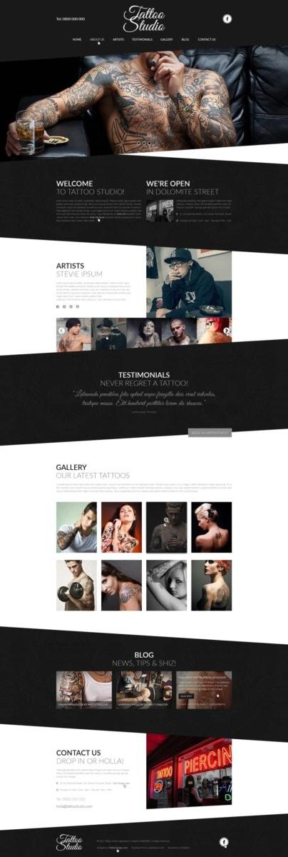 Edgy Web Design Example 2: Tattoo Studio.