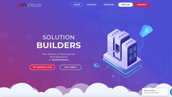 Edgy Website Design Example: Uon Cloud.