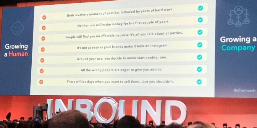 INBOUND18 is not for learning.