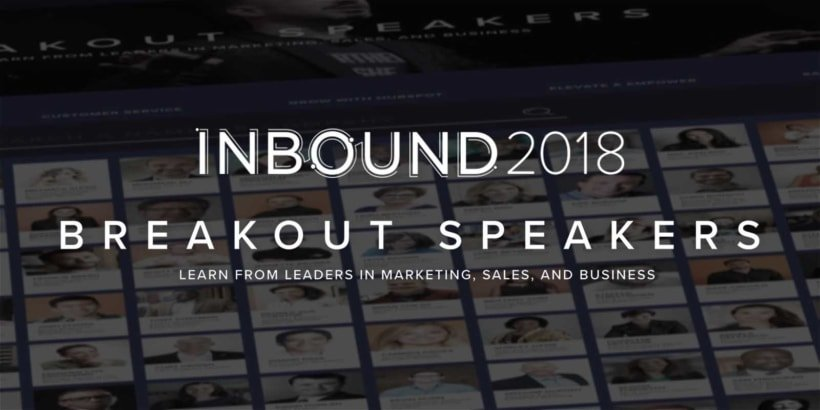 Inbound 2018 Breakout Speakers.