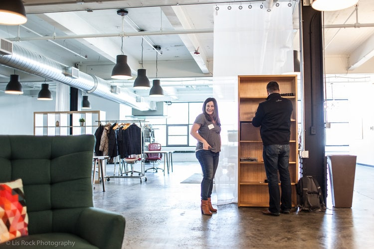 Lysa and TJ at the Coworking space