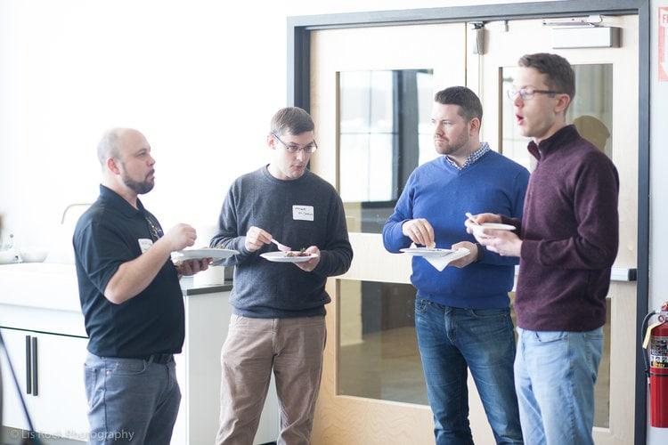 Left to Right: Jeff Gordon (Ideal Video Strategies), Mike St. Jean, TJ Kelly, and Jon Langberg (3 Media Web)