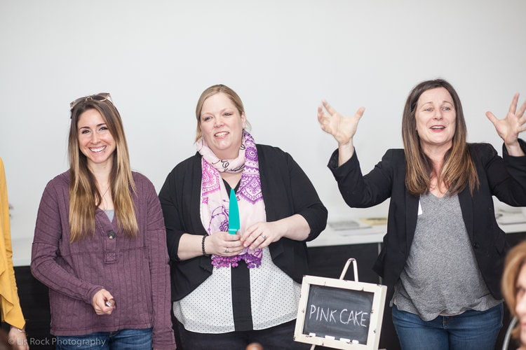 Left to Right: Kayla MacArthur (Create the Impossible, MetroWest Women's Network), Michelle Mercier (Create Honesty), and Lysa Miller (3 Media Web, MetroWest Women's Network)