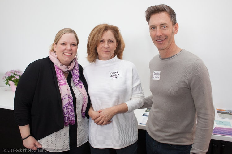 Michelle Mercier (Create Honesty), Doreen Howes (Creative Underground) and Richard Banfield (Out of Office Coworking, Fresh Tilled Soil)
