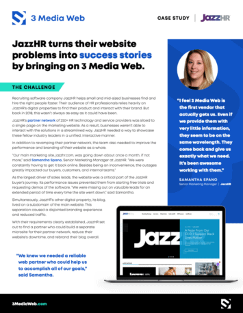 Read the latest case study from our project with JazzHR