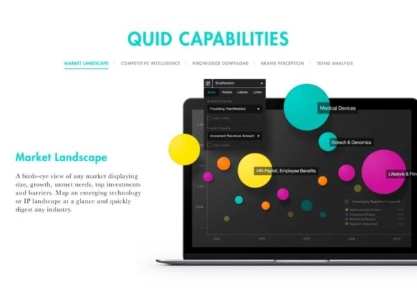 Software Company Websites: Quid Capabilities.