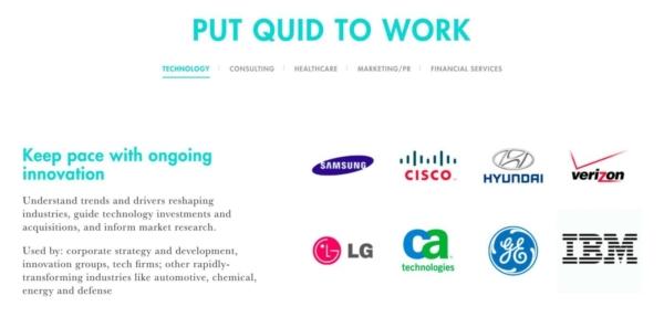 Software Company Websites: Quid Portfolio.
