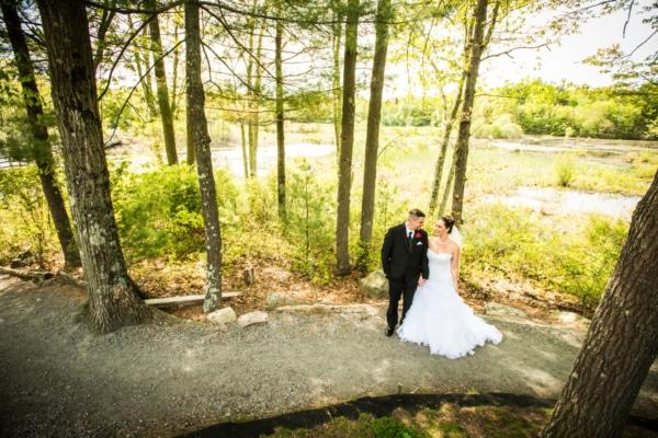 Stephanie with her husband Scott on their wedding day.