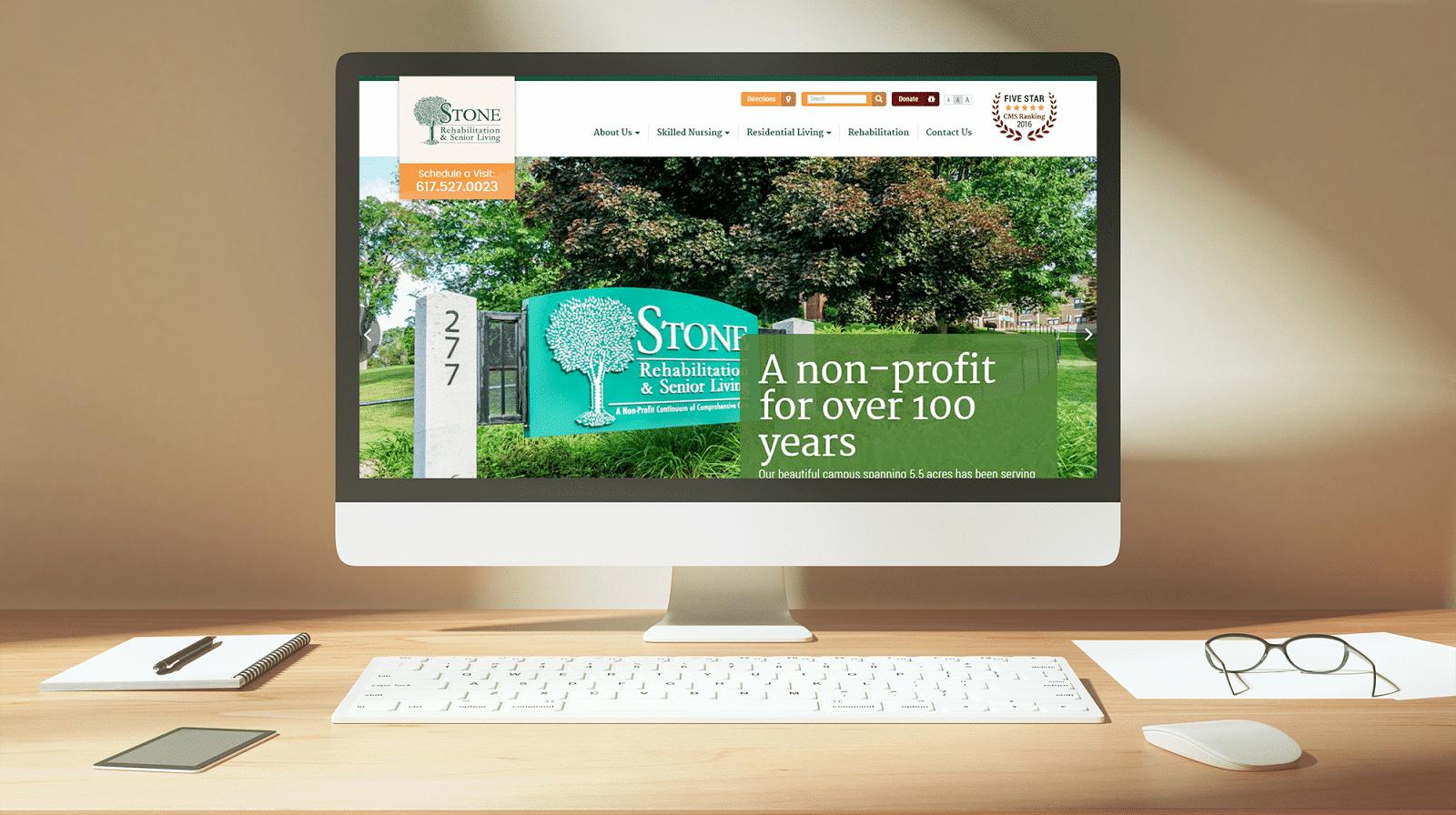 Senior Care Company Site Launch: Stone Rehabilitation