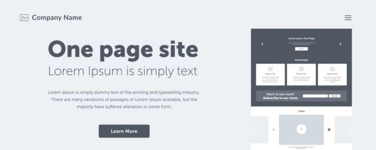 Template Website Design Layout.