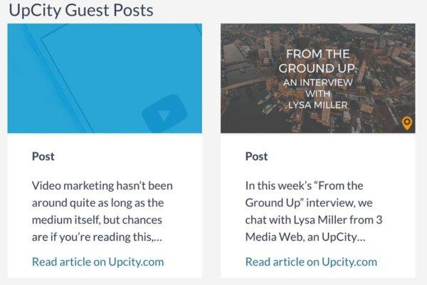 UpCity Guest Posts Screenshot.