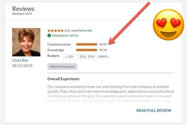 UpCity Review Screenshot.
