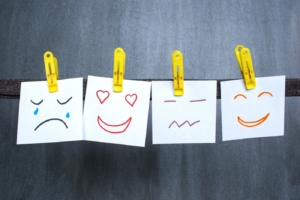 emotions on paperclipped stickies