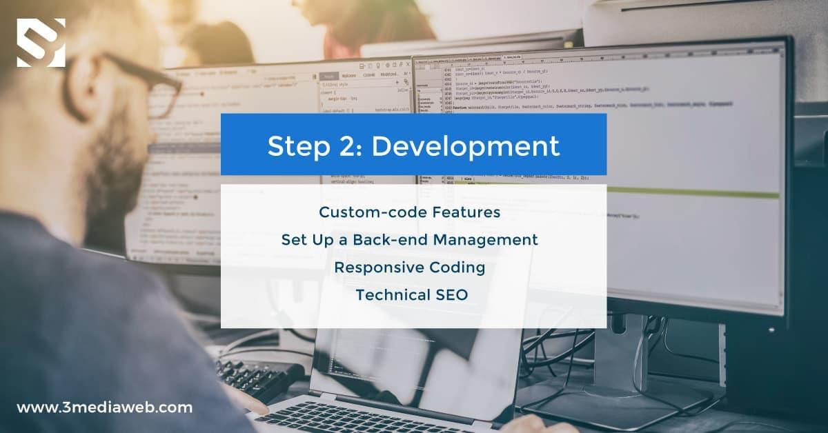 Web Design Process 5 Steps – 3 Media Web – 2 Development