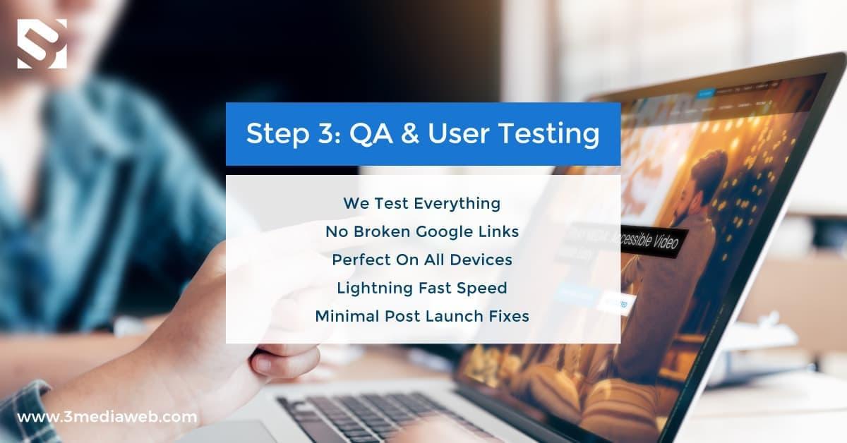 Web Design Process 5 Steps – 3 Media Web – 3 QA Review