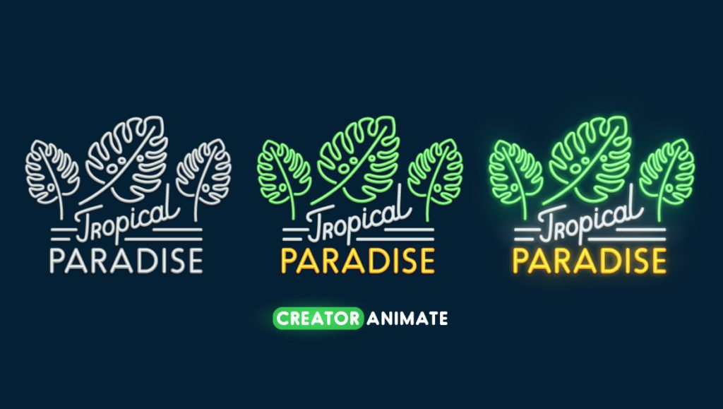 tropical paradise email sign up form example image