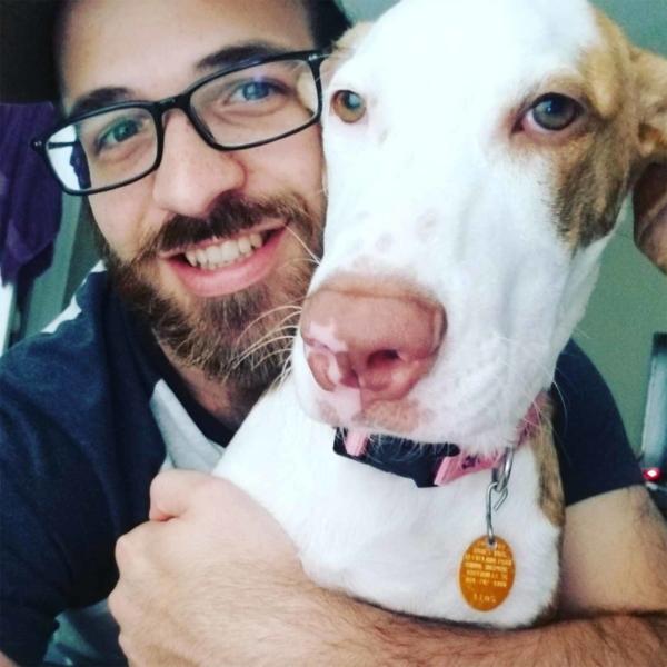 anthony urato with dog