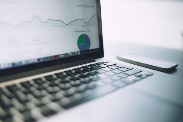 analytics chart showing website traffic
