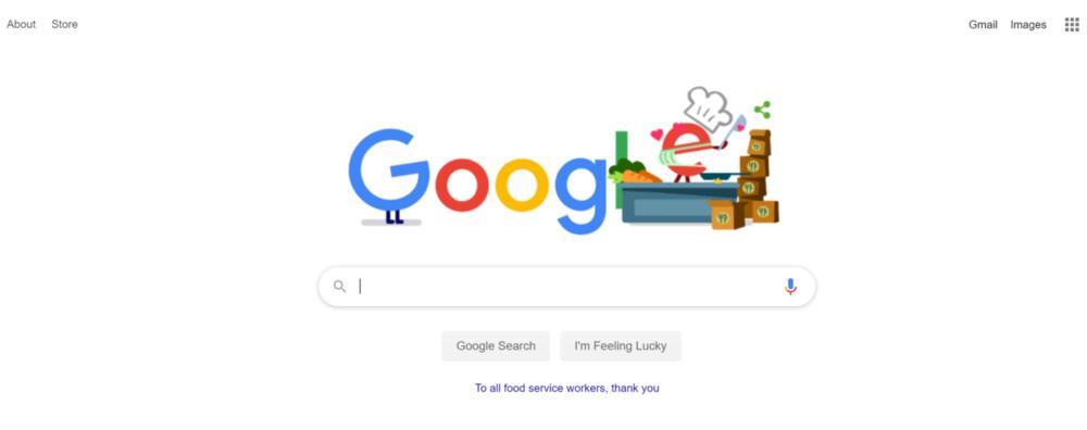 Google search page screengrab seo