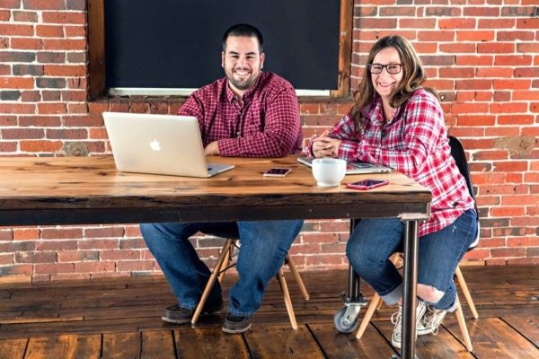 Lysa Miller and Marc Avila, partners at 3 Media Web in Hudson MA