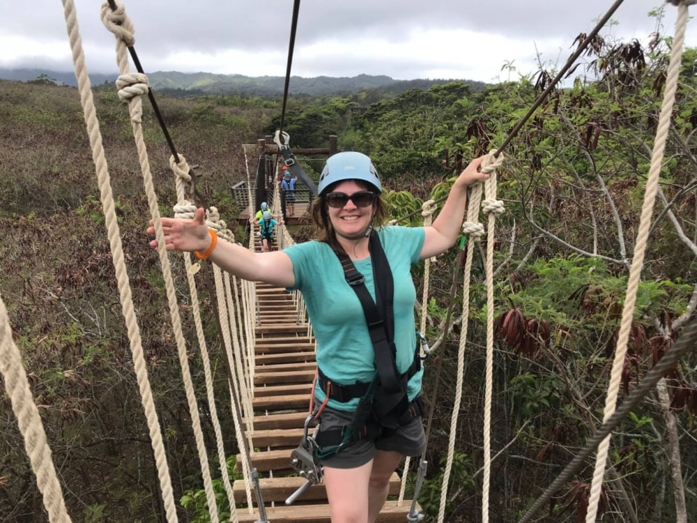 Ropes course in Hawaii