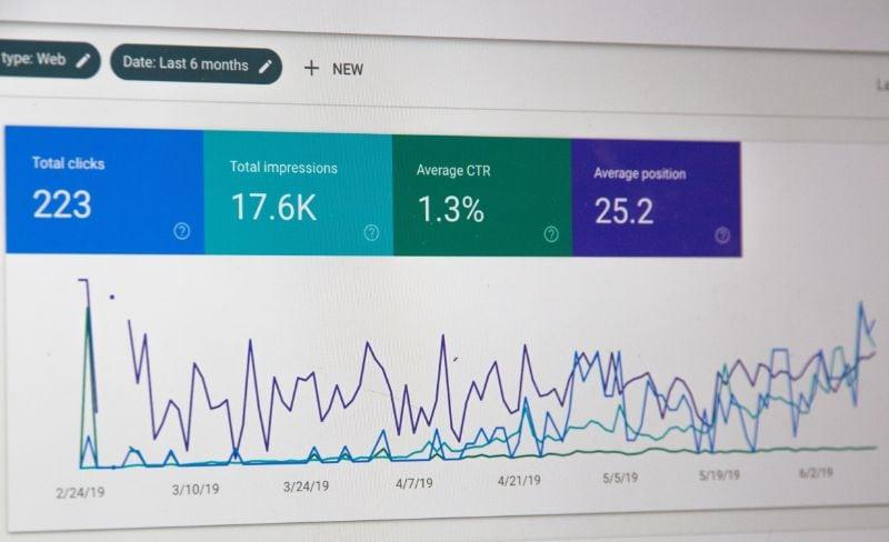 screenshot of seo audit data