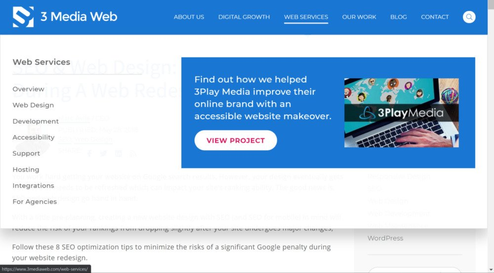 3mw url structure for seo & web design